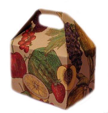 Ecofriendly Fruits-Imprinted Gable Paper Gift Box