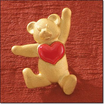 """VALENTINE"" With All My Heart Teddy Bear Tac Pin/Brooch"