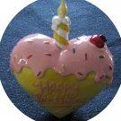 Ceramic/Pottery Heart Shape HAPPY BIRTHDAY Home Decor
