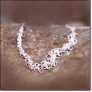 Shiny! Lively! Silvertone Multi-Circle Frontal Necklace