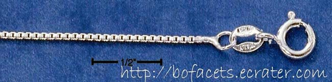 """Shiny! 0.925 Sterling Silver 20"""" Italy Box Chain-Necklace"""
