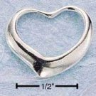 0.925 STERLING SILVER SMALL FLOATING HEART CHARM