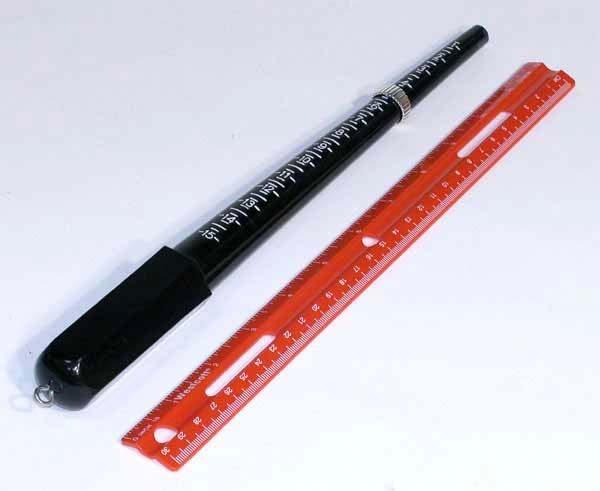 MEASUREMENT TOOL; A BLACK COLOR Plastic Ring-Sizes Stick