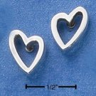 "0.925 STERLING SILVER ""OPEN-HEART"" POST EARRINGS"
