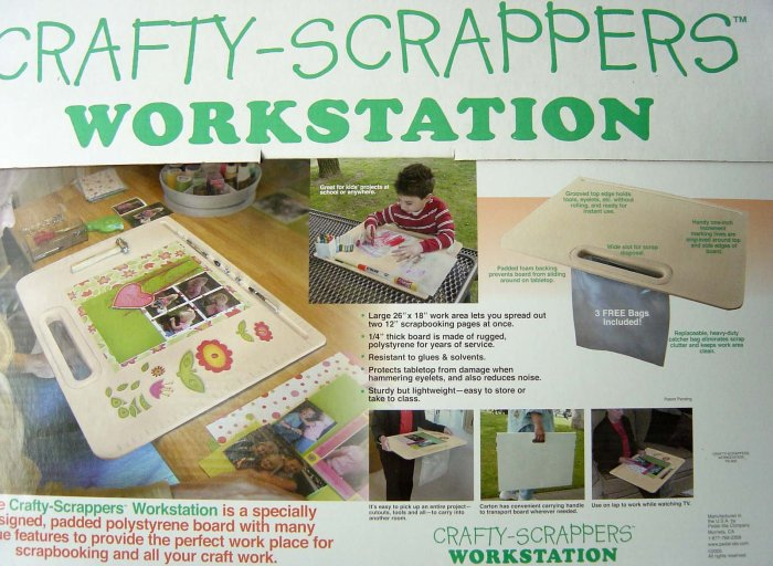 "Large 26"" x 18"" Crafty Scrapper Workerstation"