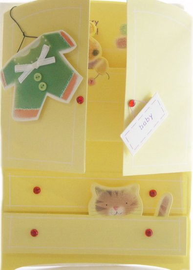 """Handcrafted Greeting Card: """"Wishing you every joy and happiness!"""""""