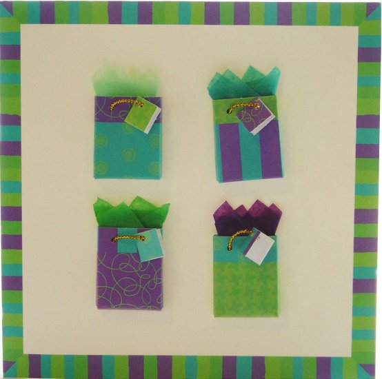 """Handcrafted """"GIFT-GIVING"""" Greeting Card: BLANK INSIDE - from heart-to-heart """"GIFT-GIVING"""""""