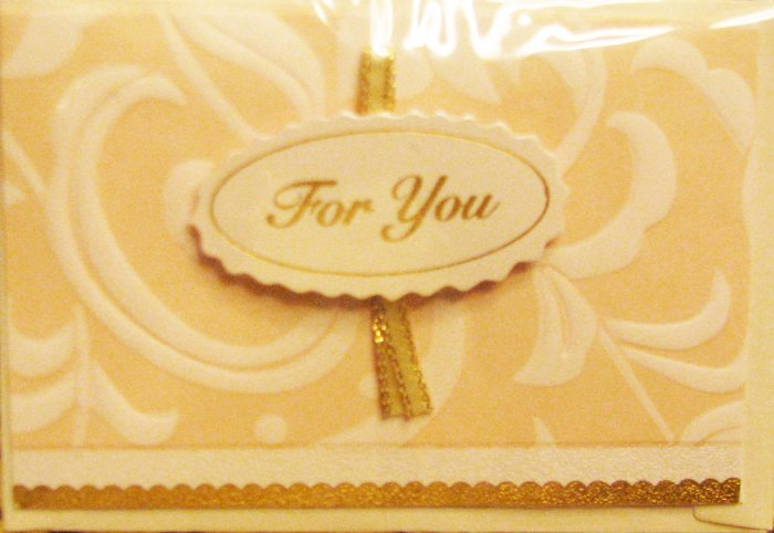 """Mini"" Handcrafted ""FOR YOU"" Note Card"