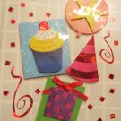 """*FREE SHIPPING to US & CANADA* Handcrafted """"Party"""" Design """"Celebration"""" Greeting Card"""