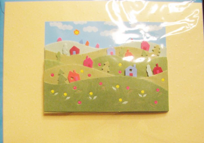 "Handcrafted ""New Home-Welcome Home NEW COMER"" Greeting Card: BLANK INSIDE *Be creative!"