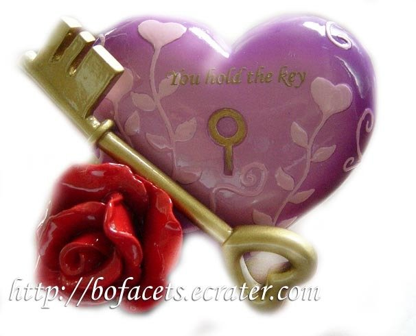 Ceramic/Pottery Heart Shape You Hold The Key Home Decor