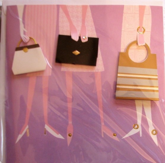 """*FREE SHIPPING to US & CANADA* Handcrafted """"LADIES' DAY"""" Greeting Card: BLANK INSIDE"""
