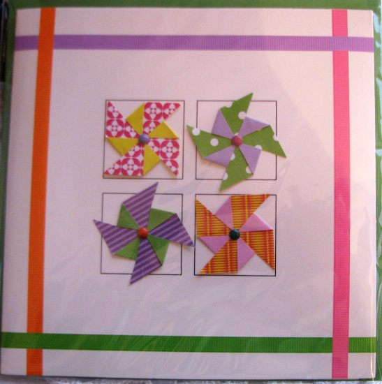 "*FREE SHIPPING to US & CANADA* Handcrafted ""PAPER-WINDMILLS"" Greeting Card: BLANK INSIDE"