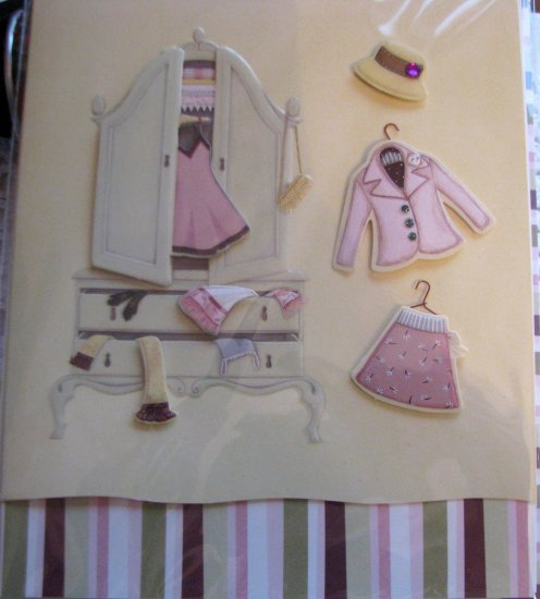 """*FREE SHIPPING to US & CANADA* Handcrafted """"LADIES' CLOSET"""" Greeting Card: BLANK INSIDE"""