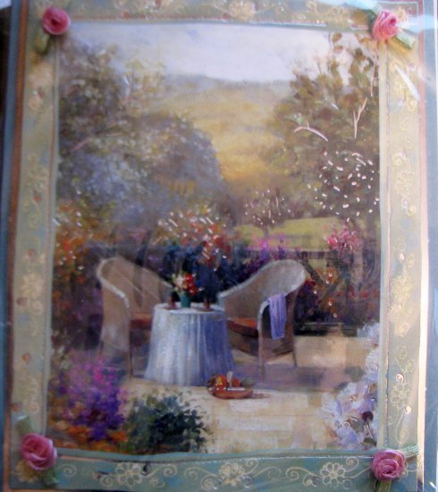 "*FREE SHIPPING to US & CANADA* Handcrafted ""SECRET GARDEN"" Greeting Card: BLANK INSIDE"