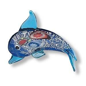 Mini Handcrafted Art Glass Decoration - Dolphin Glass Figurine
