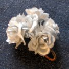"*FREE SHIPPING to US & CANADA* Handcrafted ""A Bundle of Satin-Silver Ribbon Roses"""