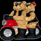 Collectible Motorcycle Couple Teddy Bears - Figurine