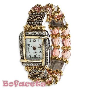 Fashion Design Pattern -  Women's Size Beaded Gemstone Watch