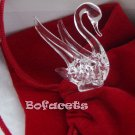 Mini Handcrafted Crystal Glass Decoration - Swan Crystal Glass Figurine