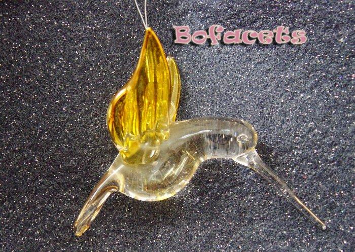 Small-Medium Blow Glass Ornament - Hummingbird Figurine