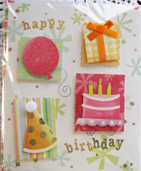 """*FREE SHIPPING to US & CANADA* Handcrafted """"Celebrate"""" Greeting Card"""