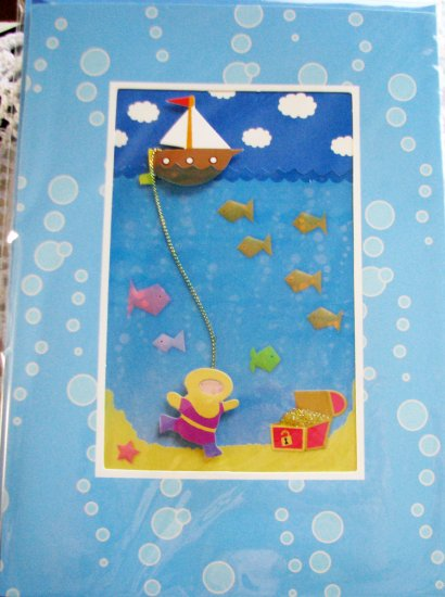 """Best wishes for a birthday filled with adventure!"" Handcrafted ""Birthday"" Greeting Card"