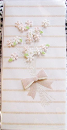 """*FREE SHIPPING to US & CANADA* """"LOVE"""" Handcrafted """"Bundle of Flowers"""" Greeting Card: BLANK INSIDE"""