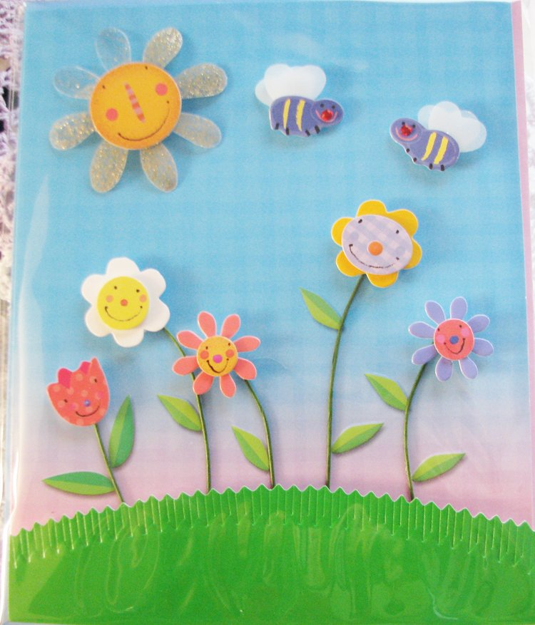 """*FREE SHIPPING to US & CANADA* """"HAPPINESS/GET WELL"""" Handcrafted Message Card: BLANK INSIDE"""