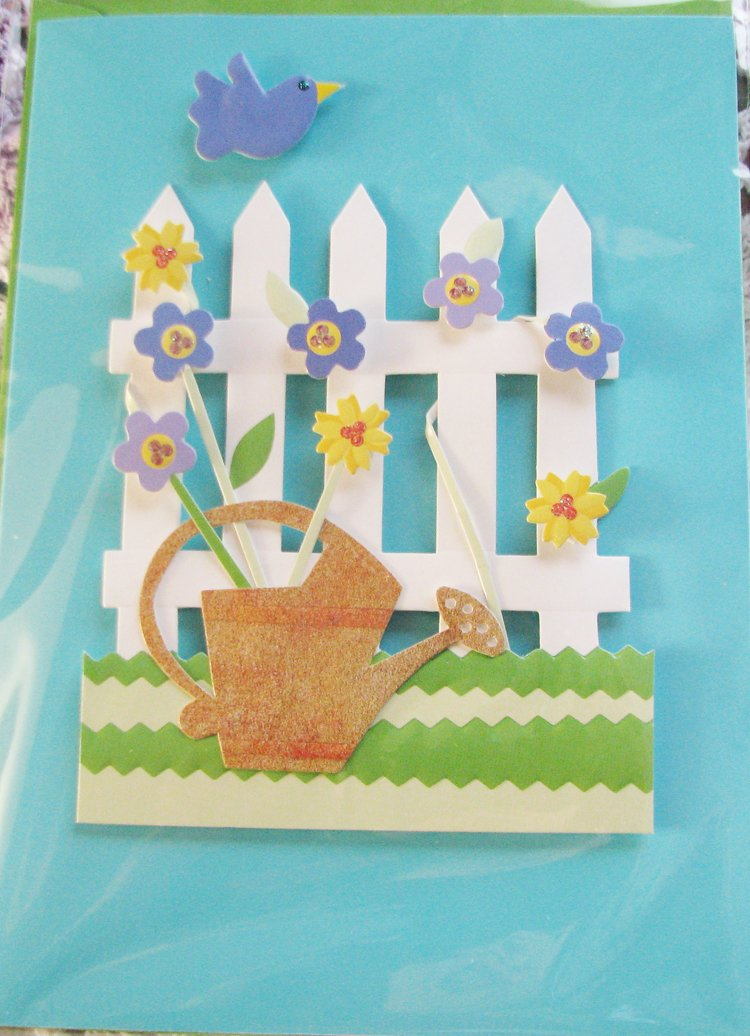 """""""Hope you have a little song in your heart today"""" Handcrafted """"GET WELL"""" Message Card"""