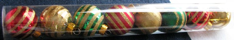 "A Set of 8-Piece Glittery Gold-Strips Colorful ""Celebrate It Christmas"" Decorations"