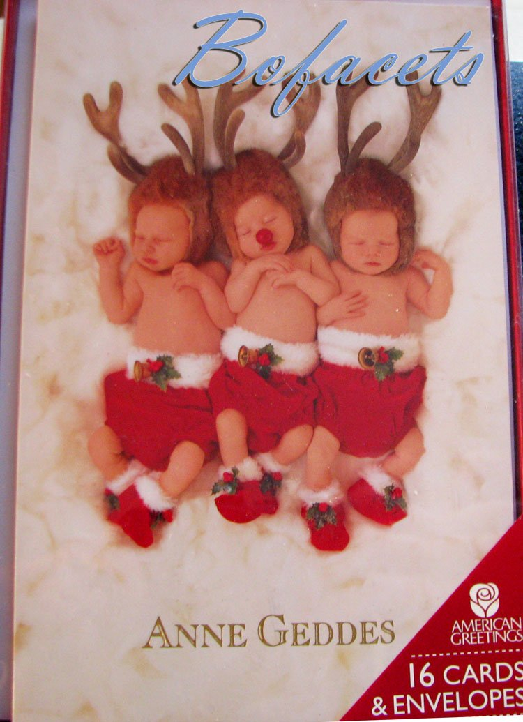 "AMERICAN GREETINGS ""Merry Christmas to all"" ANNE GEDDES 16 Cards & Envelopes"