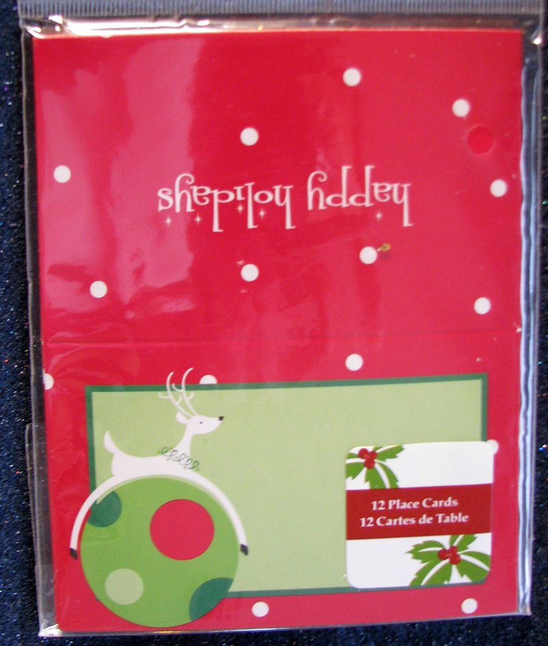 12 Party Place Cards For Holidays