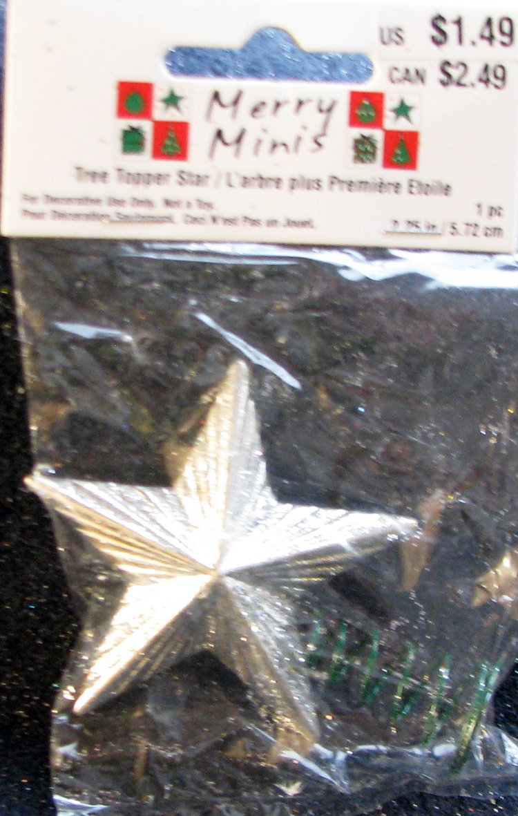 HOME DECOR Merry Silvery Tree Topper Star