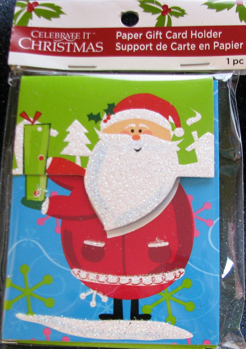One Piece Holidays Paper Gift Card Holder