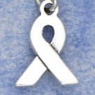 0.925 STERLING SILVER PLAIN RIBBON CHARM
