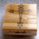 Clearance New Wood Mounted Rubber Stamp