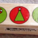 "Clearance New Wood Mounted ""Christmas Time"" Rubber Stamp"