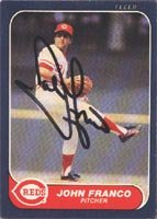 John Franco Authentic Autographed Card - Great Autograph