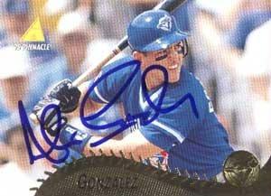 Alex Gonzalez Authentic Autographed Card - Great Autograph