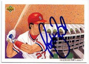 Todd Zeile Authentic Autographed Card - Great Autograph