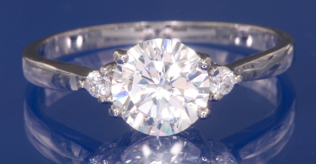 1.56ctw Russian Diamond Engagement Ring Size N or P