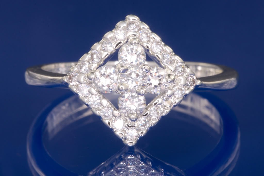 0.70ctw Russian Diamond Engagement Ring Size N