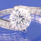 1.4ctw RUSSIAN DIAMOND ENGAGEMENT RING size M