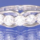 1.25ctw RUSSIAN DIAMOND ENGAGEMENT RING Size M or O