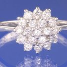 0.57ctw RUSSIAN DIAMOND ENGAGEMENT RING size O