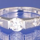 0.90ctw RUSSIAN DIAMOND ENGAGEMENT RING Size O