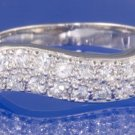0.48ctw RUSSIAN DIAMOND ENGAGEMENT RING size O or P