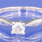 0.25ctw GENUINE 18K WHITE GOLD DIAMOND RING Size N