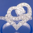 0.77ctw RUSSIAN DIAMOND ENGAGEMENT RING size M or O